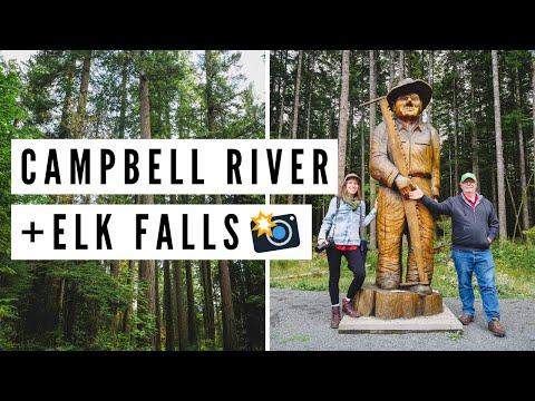 Visiting CAMPBELL RIVER, BC + Hiking in ELK FALLS   Vancouver Island, British Columbia