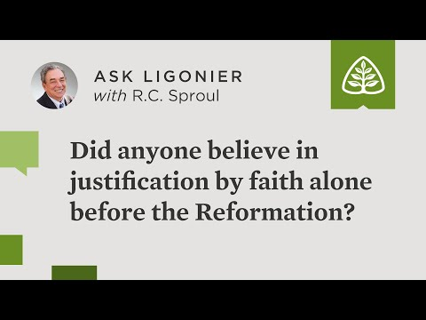 Did anyone believe in justification by faith alone before the Reformation?