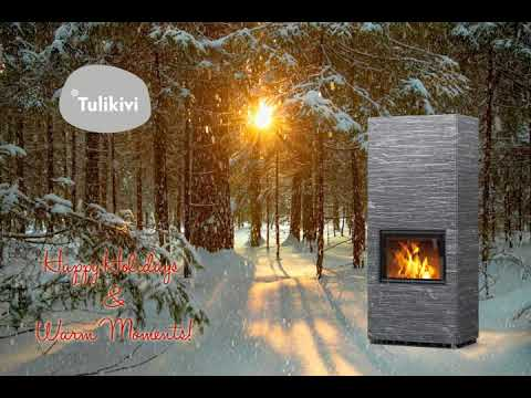 We Wish You a White Christmas With Warm Moments!  This Soapstone heater is names Henka from our Pielinen collection. Available in surface: Nobile, Grafia, Classic or White and 1390mm or 1890mm height https://www.tulikivi.com/en/products/HENKA