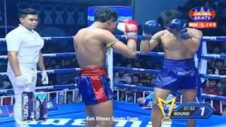 ឡុង សំណាង (កម្ពុជា) Vs (ថៃ) ខាយ វាន់ឡេក, Long Samnang, Cambodia Vs Thai, 11 Aug 2019, Kun Khmer