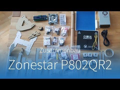 Zonestar P802QR2 3D-Drucker: Timelapse vom Zusammenbau