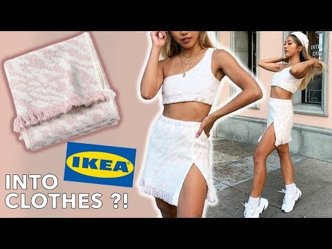 DIY IKEA Transformation Into Clothes feat. WithWendy!