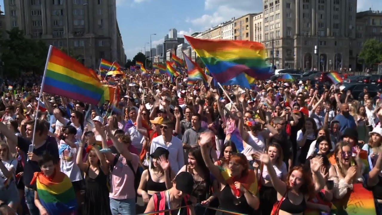 Warsaw pride parade back after virus-induced break