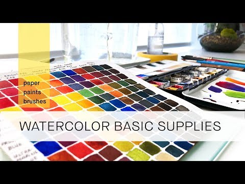 basic watercolor supplies for beginners