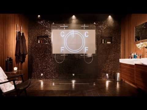 Badeværelse indretning med bruseafskærmning | INR