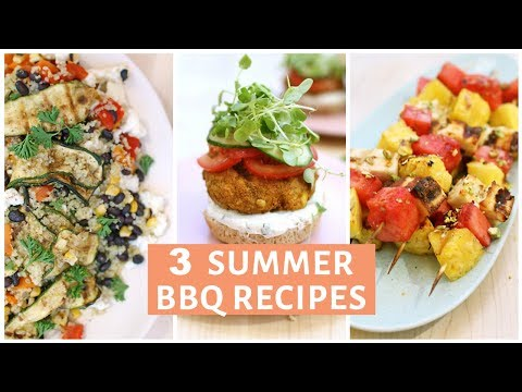 3 Summer BBQ Grill Recipes | Salad, Sliders and Kebabs