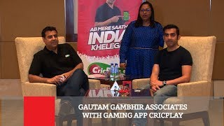 Gautam Gambhir Associates With Gaming App Cricplay