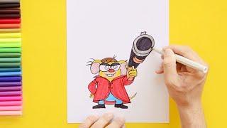 How to draw Chhotu (Charly) - Pakdam Pakdai characters