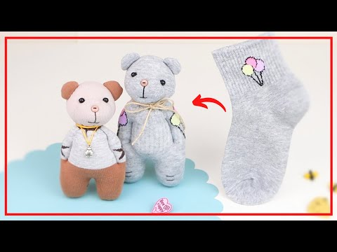 Милейший Мишка из Одинокого Носка своими руками🧸 🧦 Cute Teddy Bear of Lone Sock — DIY NataliDoma