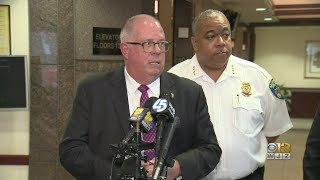 Gov. Hogan Meets With Mayor Jack Young, Police Commissioner Michael Harrison To Discuss Violent Crim