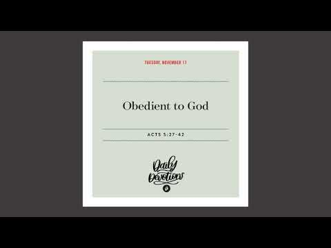 Obedient to God  Daily Devotional