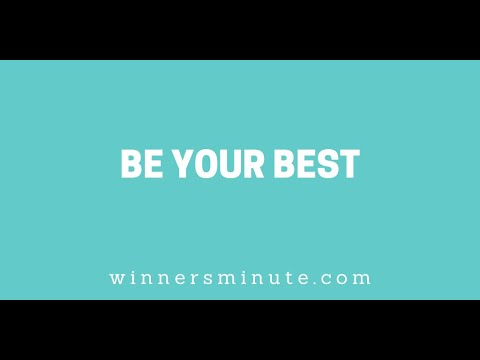 Be Your Best // The Winner's Minute With Mac Hammond