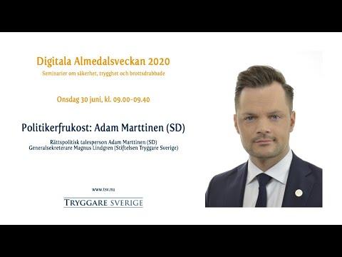 Politikerfrukost: Adam Marttinen (SD)