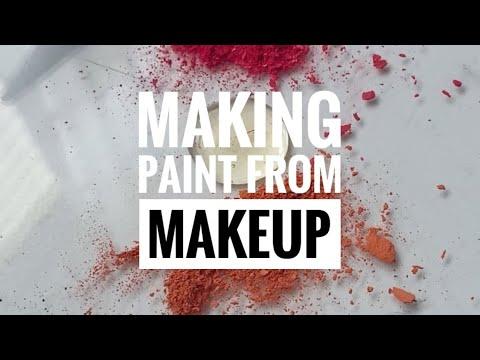 DIY Watercolour Paint from Makeup! #shorts