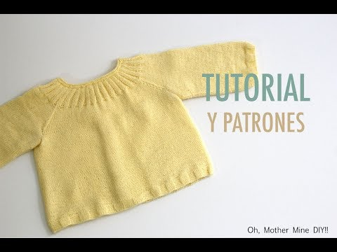 DIY Cómo tejer jersey para bebés (patrones gratis)