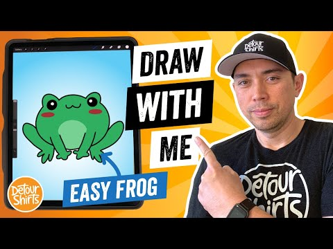 How to Draw a Kawaii Frog Easy… Draw With Me Using Procreate – Learn to Draw a Cartoon Frog