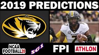 Missouri 2019 Football Predictions - Comparing Sources
