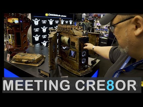 The Best Computer Modding Showcase at Gamescom 2019 by Cre8or at Caseking Booth