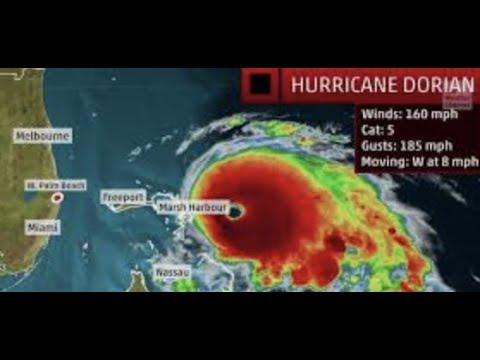Breaking Catastrophic Cat 5 Hurricane Dorian To Crush Bahamas Then FLORIDA