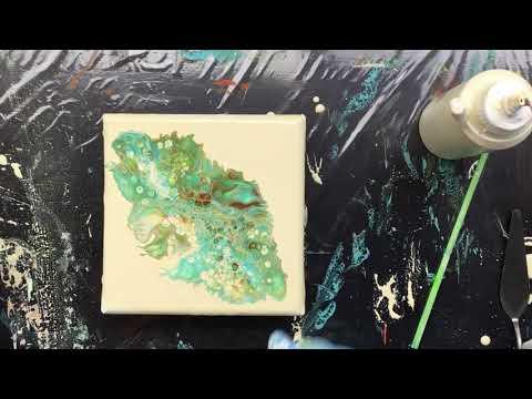 ( 867 ) A little acrylic pour