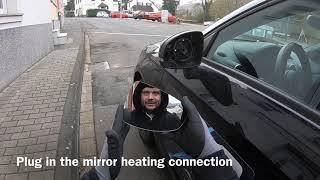 Smontaggio specchietto Audi A1 (specchio sinistro)