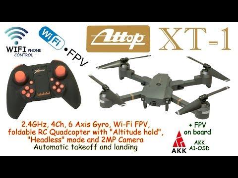 Attop XT-1 WIFI 2.4GHz, 4Ch, 6 Axis, Altitude hold, Headless, 2MP Camera (RTF) + AKK A1-OSD on board - UC8Pp5wqa4mPIdtAYkGH2Pzw