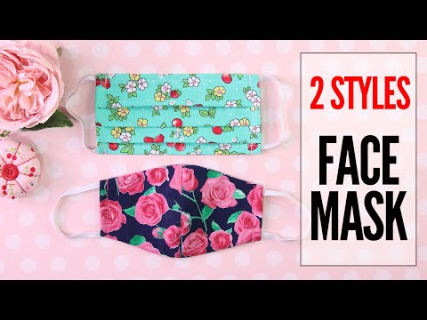 DIY Mask, Face Mask – 2 Styles – Fabric Face Mask Pattern