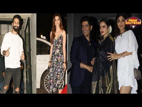 Alia Bhatt,Karan Johar,Anushka Sharma,Kriti Sanon & Shahid Kapoor At Jitesh Pillai's Birthday Bash