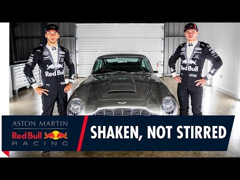 Shaken, not stirred | Max Verstappen and Pierre Gasly get suited up for the British Grand Prix