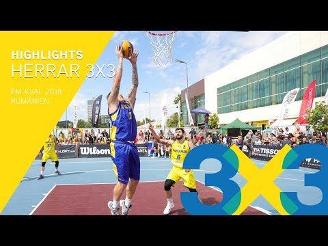 Highlights: Herrar 3X3 i EM-kval 2018 🏀🇸🇪