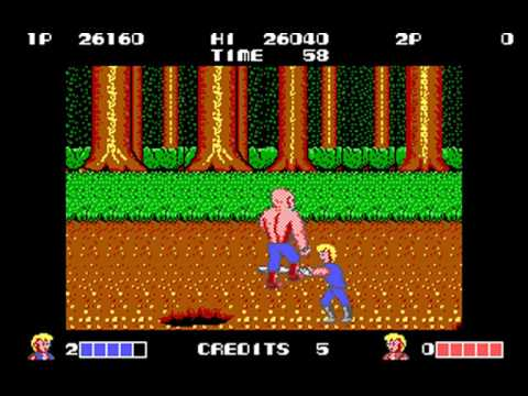 Double Dragon (Technos Japan, Binary Design) (MS-DOS) [1988]