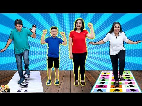 HOP SCOTCH | Family Challenge Jumping Jack | Aayu and Pihu Show