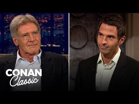 """Harrison Ford Meets """"Indiana Jones"""" Super Fan Jordan Schlansky - """"Late Night With Conan O'Brien"""""""