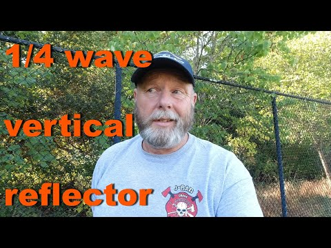 How to make a Quarter Wave Vertical Antenna Reflector for use on Parks On The Air (POTA) activations