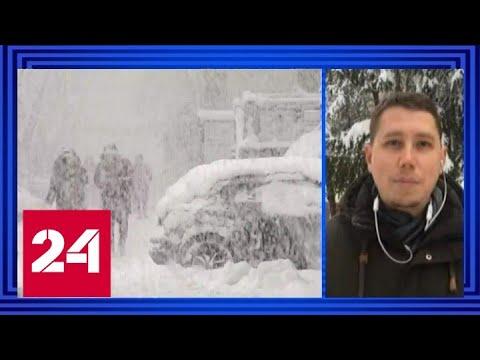 С последствиями сильнейшего снегопада борются на Кубани