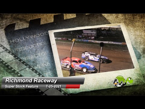 Richmond Raceway - Super Stock Feature - 7/25/2021 - dirt track racing video image