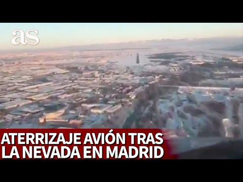 FILOMENA MADRID | El impresionante aterrizaje de un avión en Barajas con la tremenda nevada | AS