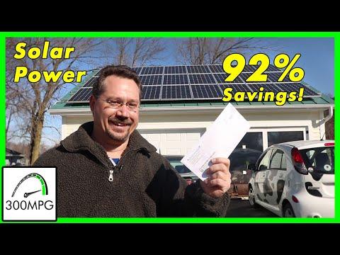 Electric Bill Feb. - 92% Savings w/ Solar and T.O.U.