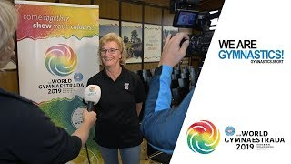 2019 World Gymnaestrada – A delighted GFA Committee President  – We are Gymnastics !
