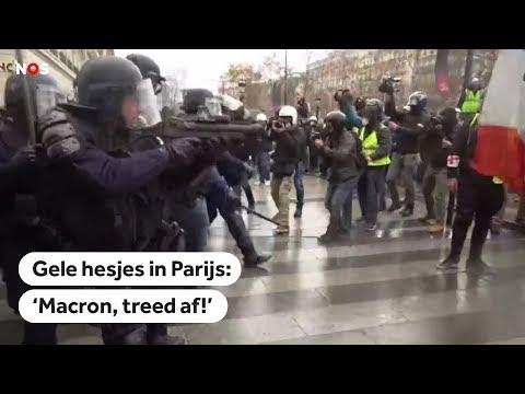 PARIJS: Politie gebruikt traangas tegen gele hesjes