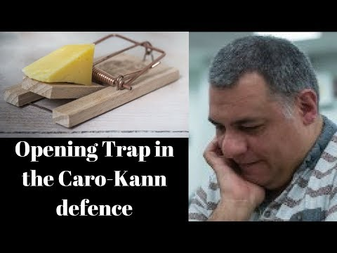 Opening Chess Trap: A very naughty trap against the unsuspecting Caro-Kann player!