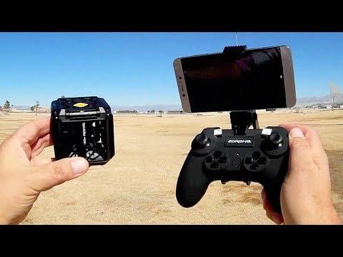 EDrone Black Knight Cube Micro Folding Selfie Drone Flight Test Review