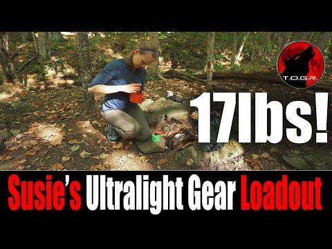 Susie's Ultralight Gear Loadout - Woman in the Backcountry Alone