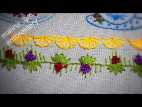 Hand embroidery | Decorative stitches 🍮Декоративные швы | Puntadas decorativas