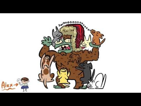 Sasquatch vs Puppies Timelapse Drawing