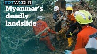 Search for missing after Myanmar landslide