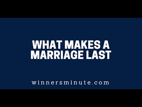 What Makes a Marriage Last  The Winner's Minute With Mac Hammond