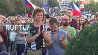 Czech Republic: Thousands hold anti-government rally on 50th anniversary of 1969 clashes