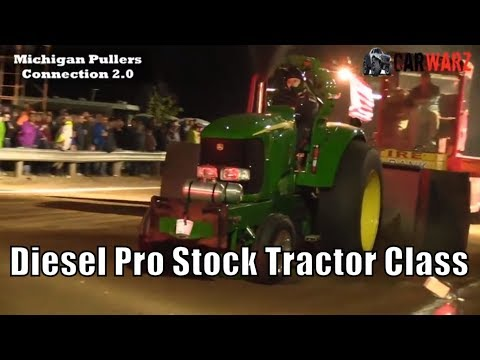 Diesel Pro Stock Tractor Class TTPA Tractor Pulls At Peck Michigan June 1 2018