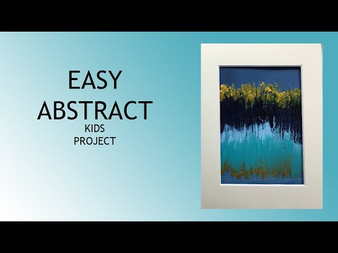 ( 1013 ) Acylic abstract easy kids project